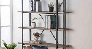 Amazon.com: HSH Furniture 5-Shelf Vintage Industrial Rustic