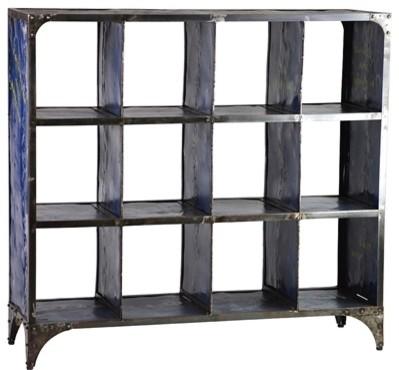 Alchemist Metal Bookshelf - Navy - Industrial - Bookcases - Austin