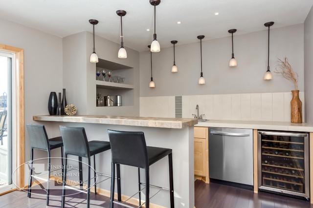 Basement Wet Bar - Modern - Basement - Minneapolis - by FBC Remodel
