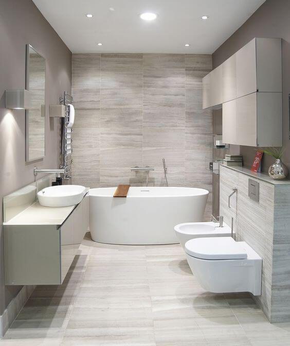 Turn Your Simple Bathroom Into   a Modern : ideas of bathroom decor