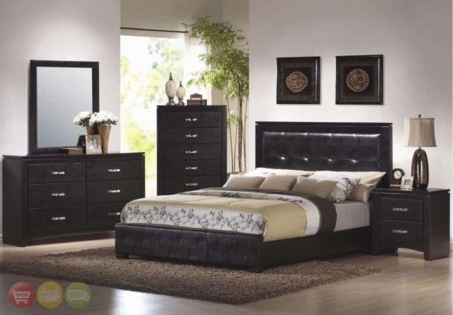 Dylan Modern King Panel Bed Contemporary Black Upholstered Bedroom