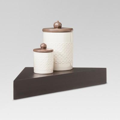 Modern Corner Shelf - Espresso - Threshold™ : Target