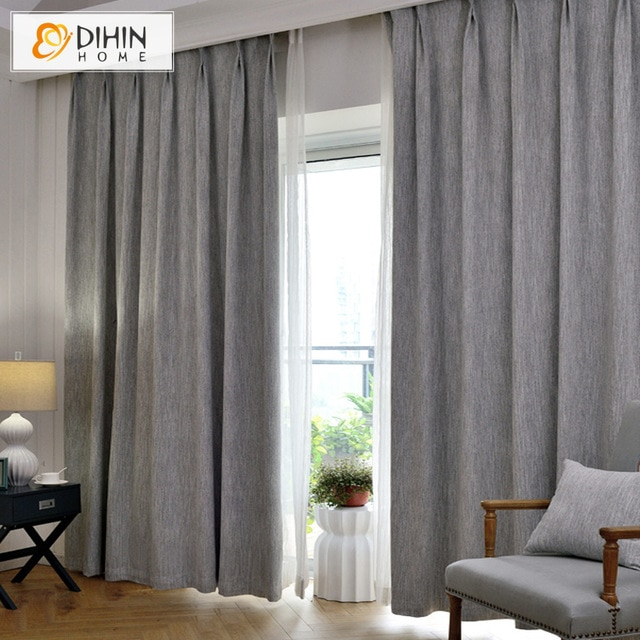 DIHIN 1 PC New Arrival Linen/Cotton Modern Curtains For Living Room