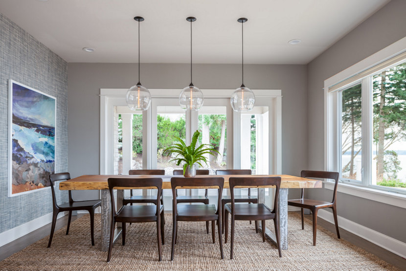 Island Interior With Dining Room Pendant Lighting Trending On Houzz