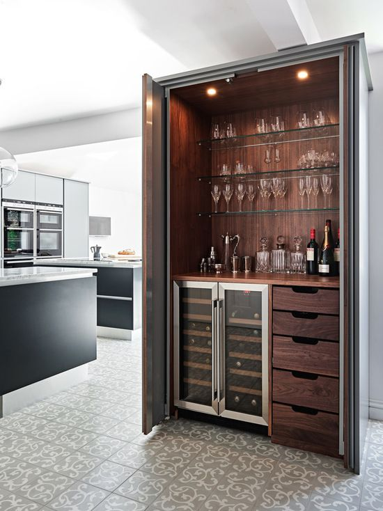 Modern hidden bar BilliardFactory.com   Interior Barn Doors in 2019