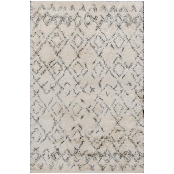 Rugsville Beni Ourain Beige Wool Moroccan Rug 12186 Sample
