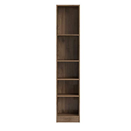 Keep your things organized   with a tall narrow bookcase