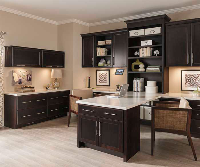 Office Cabinets in Dark Cherry Finish - Diamond Cabinets