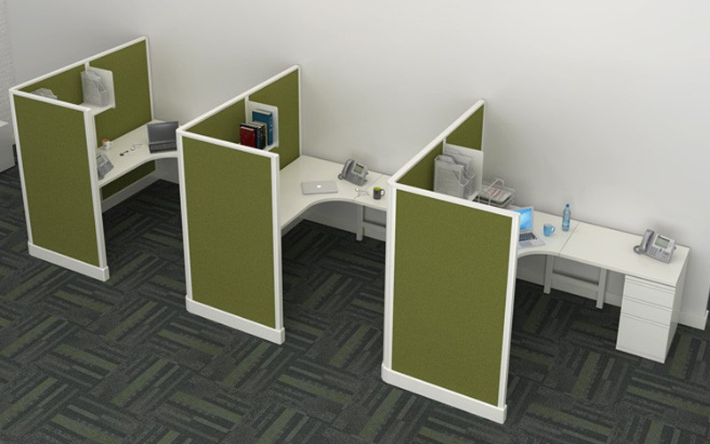 6' x 6' Modern Cubicles With 67