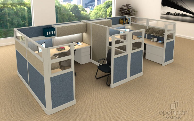 High Office Cubicles With Glass Panels & Fabric Walls | Joyce Contract