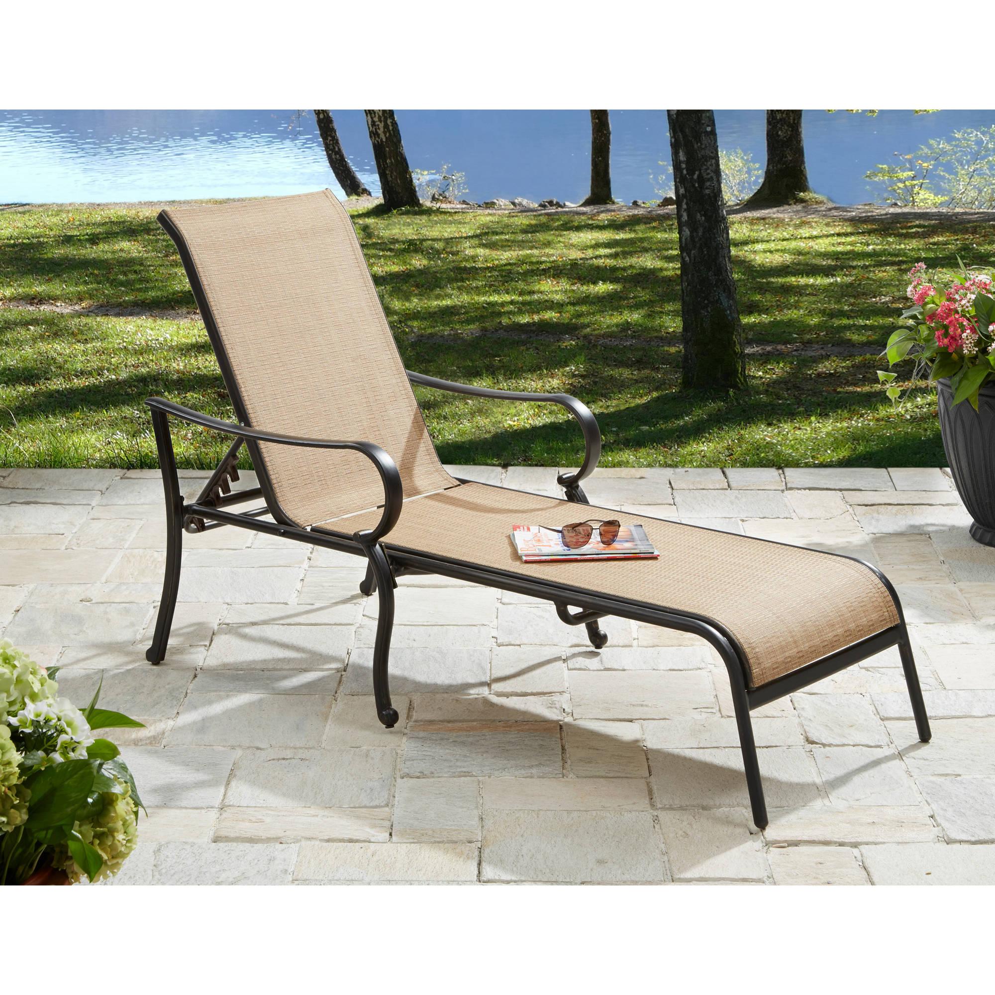 Better Homes & Gardens Warrens Outdoor Chaise Lounge - Walmart.com