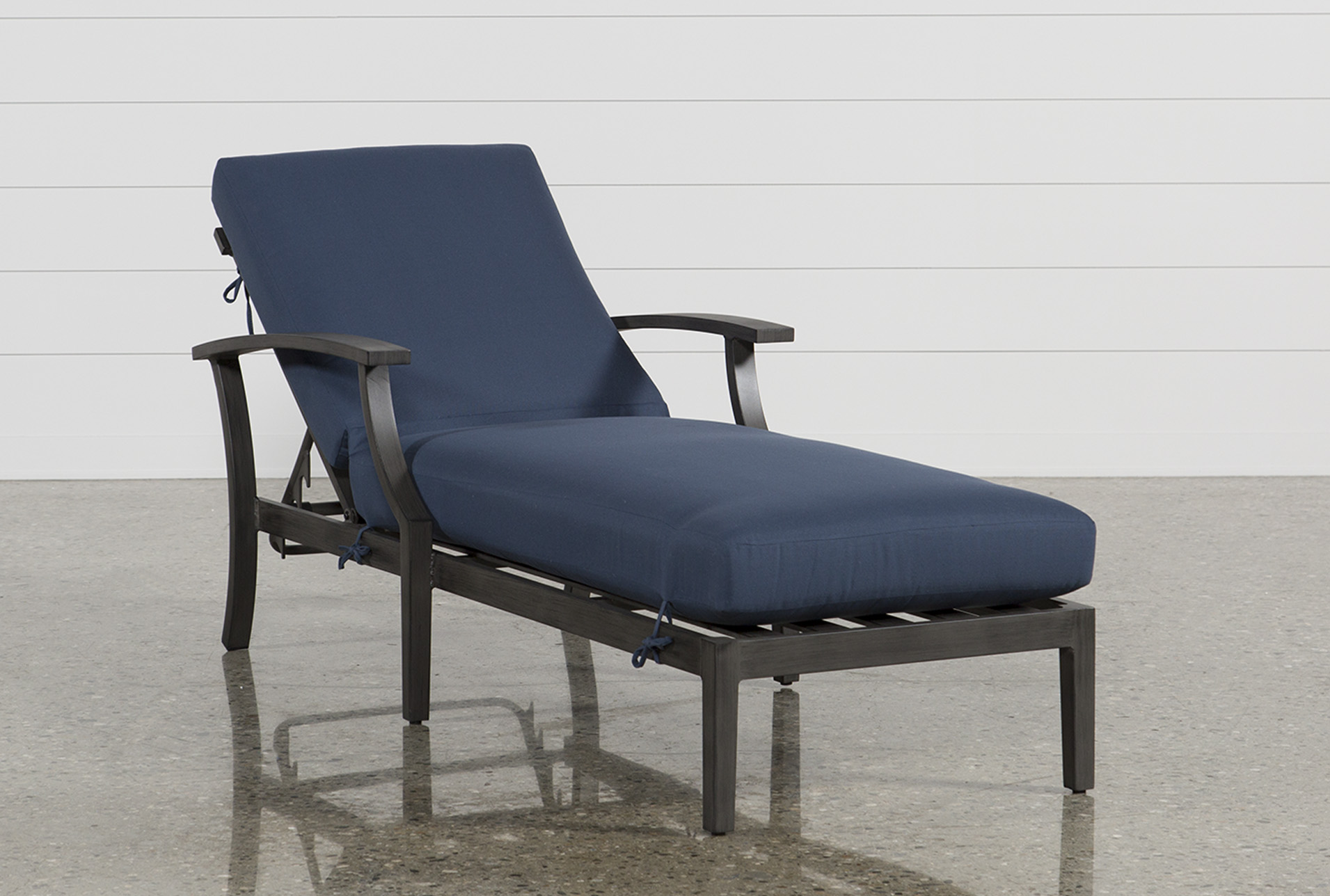 Outdoor Martinique Navy Chaise Lounge | Living Spaces