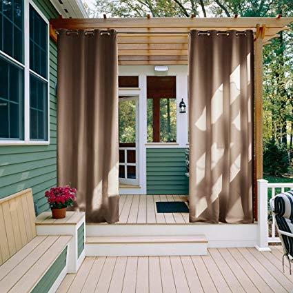 Amazon.com: NICETOWN Outdoor Curtain Panel for Patio - Grommet Top