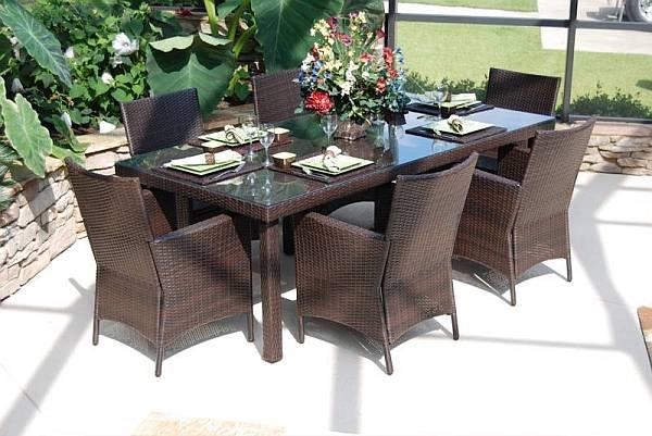 Lantana 7 Pc. Resin Wicker Dining Set - CIL-7