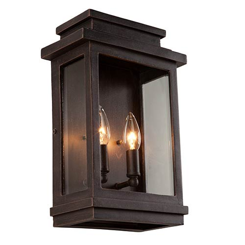 Artcraft Fremont Oil Rubbed Bronze Two Light 13.5 Inch High Outdoor