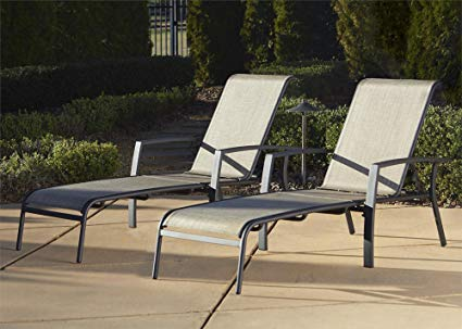 Amazon.com: Cosco Outdoor Chaise Lounge Chair, Adjustable, 2 Pack