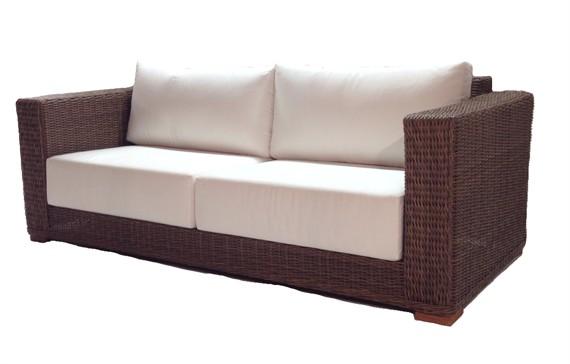 Patio Wicker Sofa - Santa Barbara