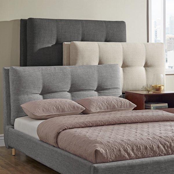 Shop Dallan Plush Tufted Padded Headboard Bed by iNSPIRE Q Modern