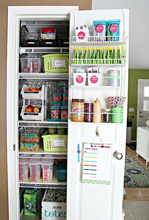 10 Realistically Organized Pantries | Future/Dream Home | Kitchen