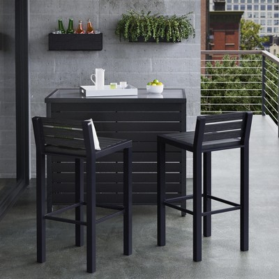 Bryant 3pc Metal Patio Bar Set - Brown/Black - Project 62™ : Target