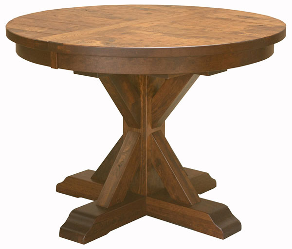 Alberta Single Pedestal Table in Dining Tables | Amish Furniture