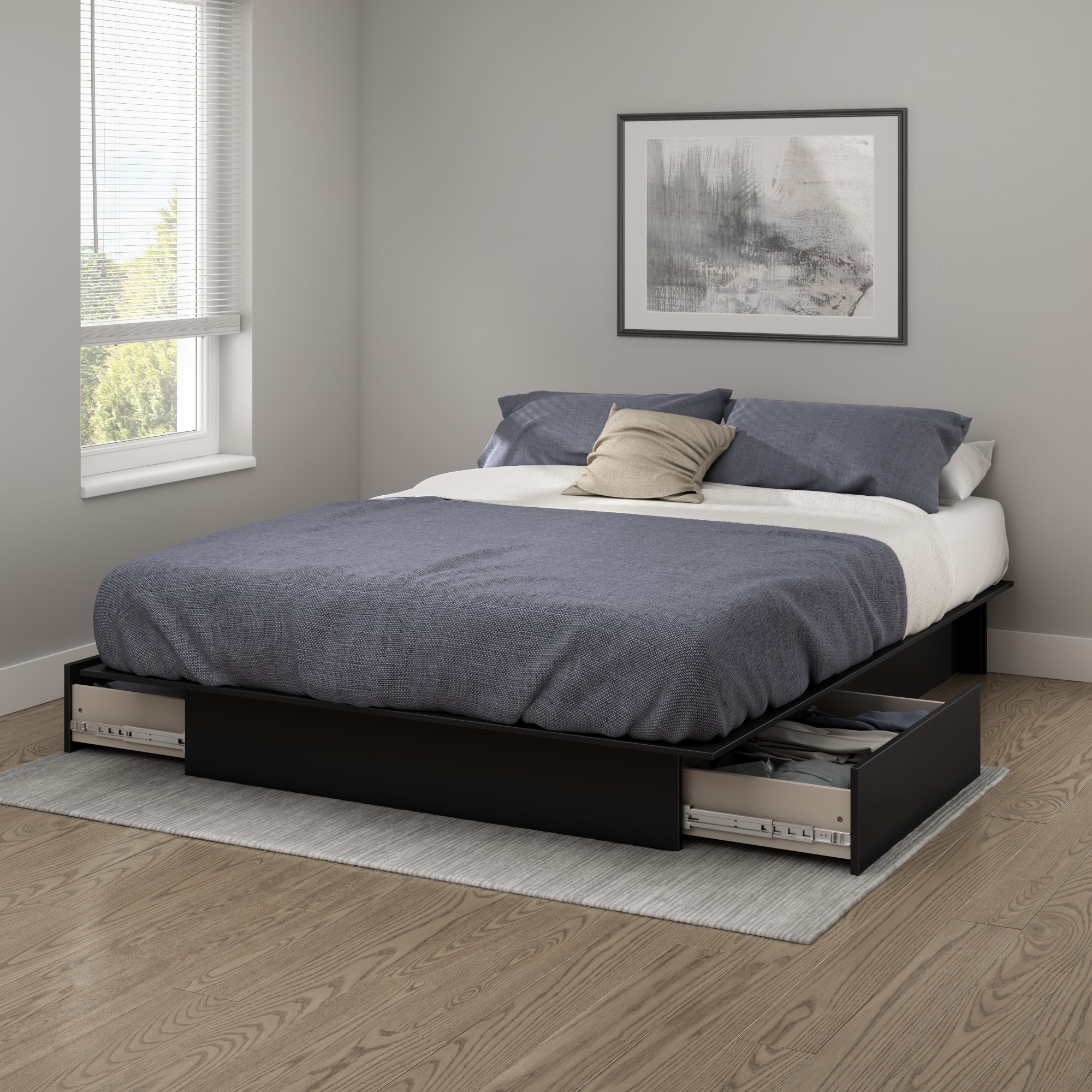 South Shore SoHo Full/Queen Storage Platform Bed and Headboard