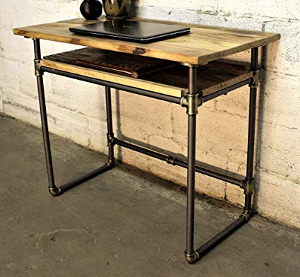 Amazon.com: Furniture Pipeline Industrial Writing Desk with Lower