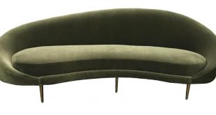 Round Sofa - Modern Couch - Mid-Century Modern Sofa