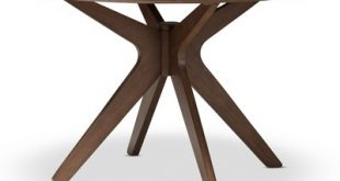 Monte Mid - Century Modern Wood Finish 47 - Inch Round Dining Table