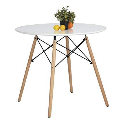 Amazon.com: Coavas Kitchen Dining Table White Round Coffee Table