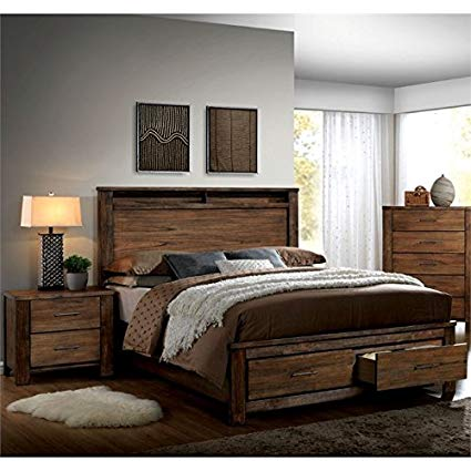 Amazon.com: Furniture of America Nangetti Rustic 2 Piece Queen