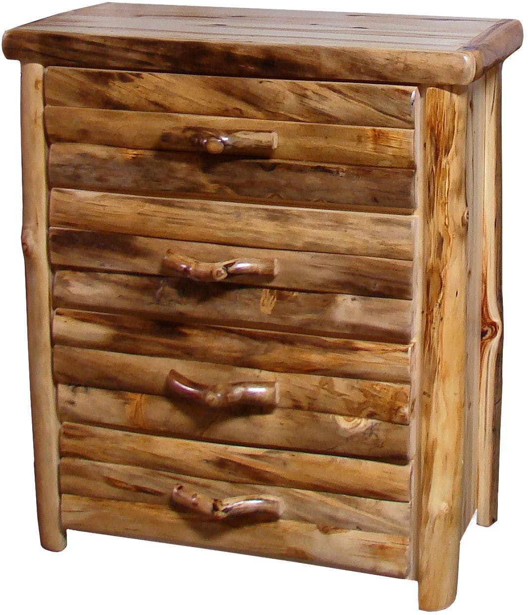 Rustic Log Furniture Bedroom 4 Drawer Chest 4DCL-39-NN - Abernathy's