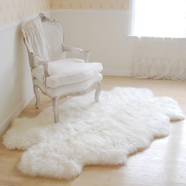 Sheepskin Throw Rug at Rachel Ashwell Shabby Chic Couture