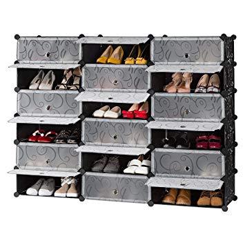 Amazon.com: LANGRIA 18-Cube DIY Shoe Rack, Storage Drawer Unit Multi