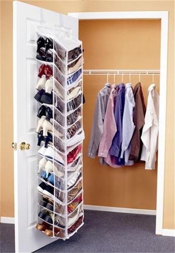 Shoes Away Over the Door Organizer - Dorm closet shoe organizer