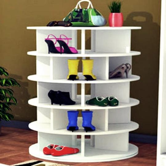 Floor to Ceiling Shoe Storage | Lazy Susan Shoe Organizer | Closet