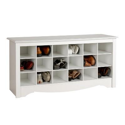 Shoe Storage Cubbie Bench White - Prepac : Target