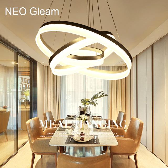 Luxury Modern chandelier LED circle ring chandelier light for living