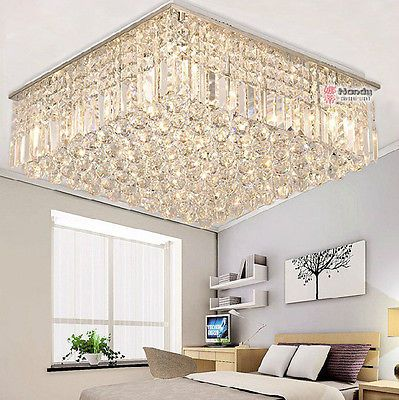 Modern Luxury Living Room Ceiling Lamp Fixture Crystal Chandelier