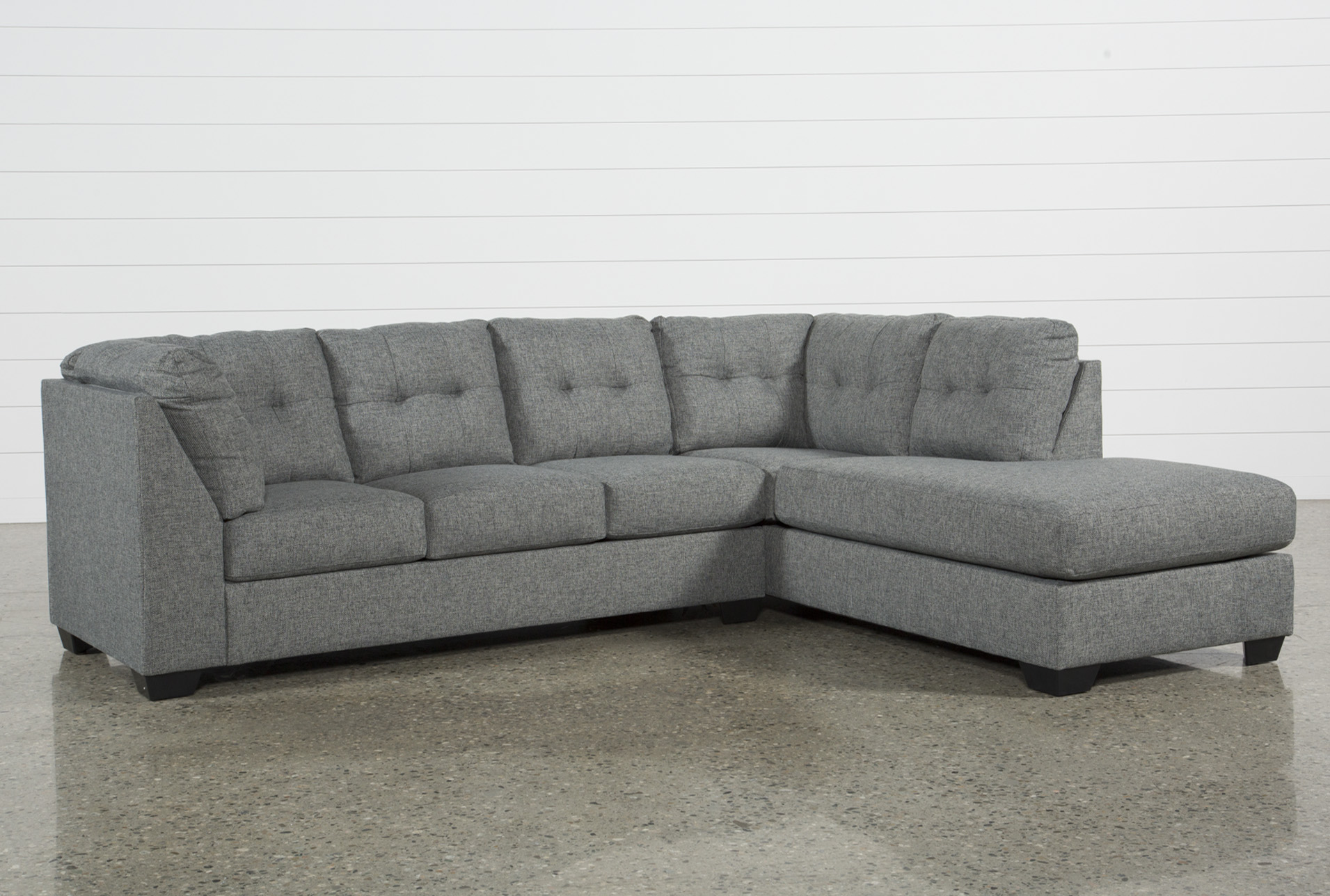 Arrowmask 2 Piece Sectional W/Sleeper & Raf Chaise   Living Spaces