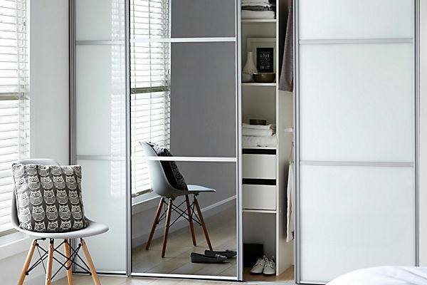 S Thin Wardrobe Sliding Doors Simple White Sliding Door Wardrobe