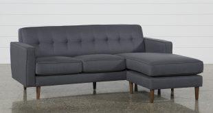 London Dark Grey Reversible Sofa Chaise | Living Spaces