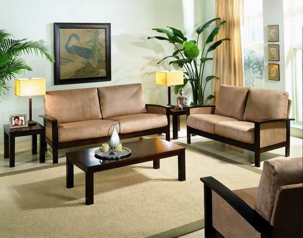 Sofa Set Designs For Small Living Room   sunitha   Wooden sofa set