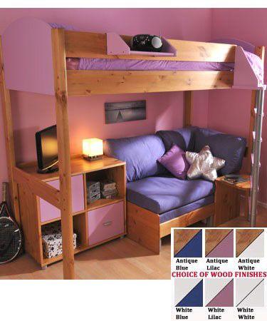 Stompa Casa 8 Loft Bed with Sofa Bed & Cupboard - £912.00 | Pretty