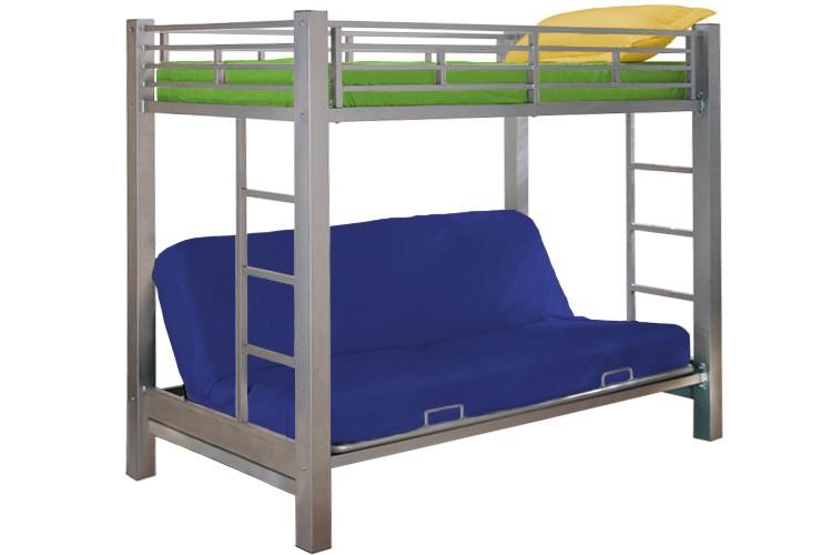 Kids Metal Futon Bunk Bed | Roboto Silver | The Futon Shop