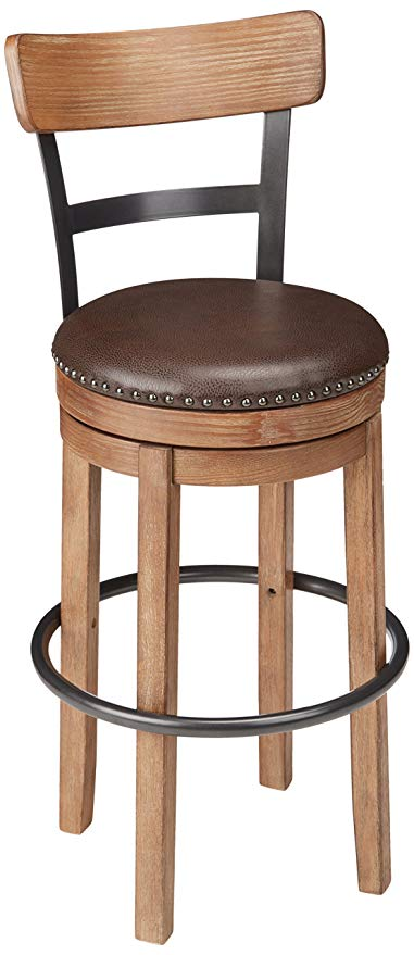 Amazon.com: Ashley Furniture Signature Design - Pinnadel Swivel Bar