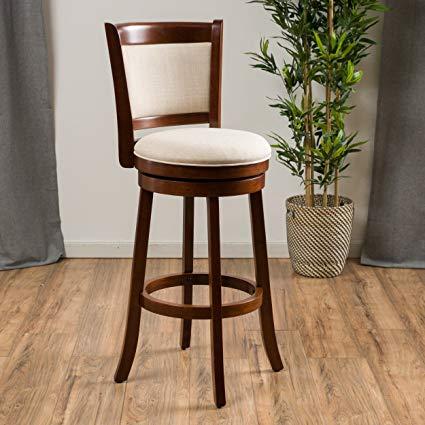 Amazon.com: Great Deal Furniture   Davis   Fabric Swivel Bar Stool