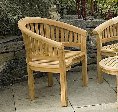 Conchal Teak Garden Armchair - Teak Outdoor Furniture by Reforest Teak