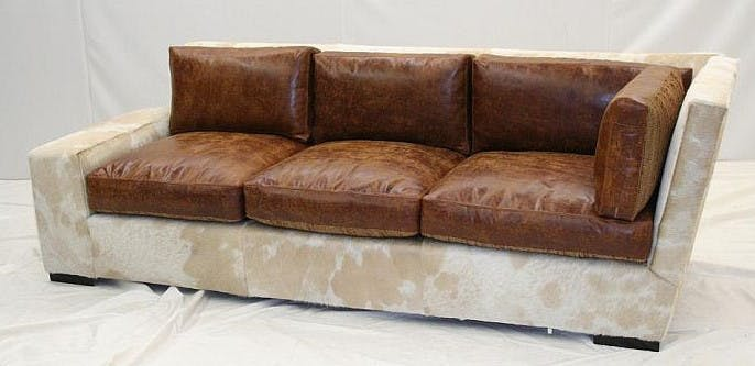Old Hickory Tannery Living Room Right Arm Corner Sofa 4620-RACS