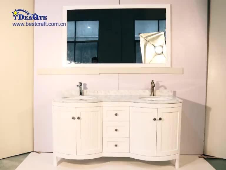 Top Class Quality Classic Bathroom Furniture Bathroom Vanity Double